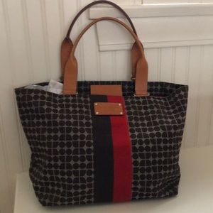 Kate Spade Brown and Red Canvas Bag